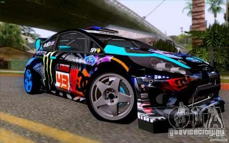 Ford Fiesta 2013 v2.0 для GTA San Andreas вид сзади