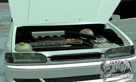 ВАЗ 2114 Tuning для GTA San Andreas вид изнутри