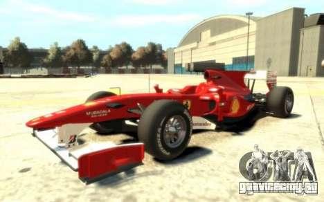 2010 Scuderia Ferrari F10 для GTA 4