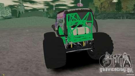 Grave digger для GTA 4 вид справа