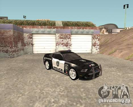 Ford Shelby GT500 2010 Police для GTA San Andreas вид сзади слева