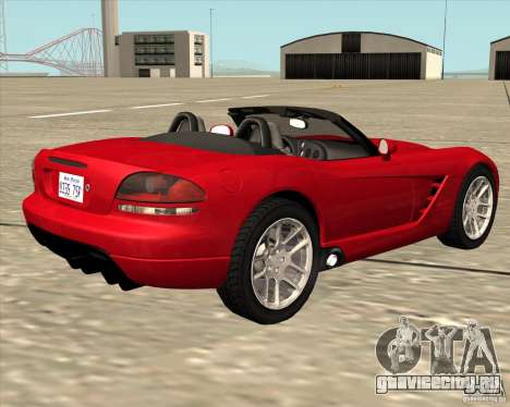Dodge Viper SRT-10 Roadster для GTA San Andreas вид слева