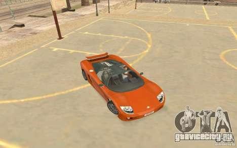 Автомобиль Veloche для GTA San Andreas вид сзади слева