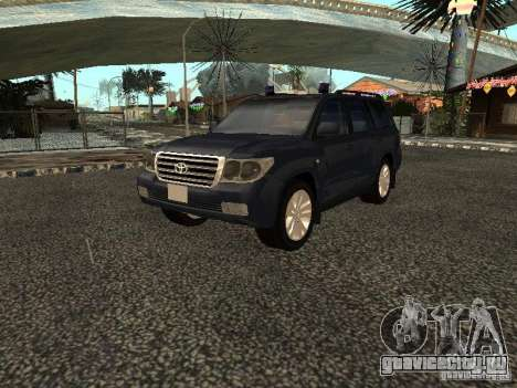 Toyota Land Cruiser 200 для GTA San Andreas вид сзади