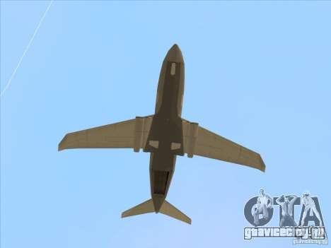 Cargo Shamal для GTA San Andreas вид сзади