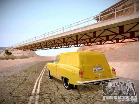 ГАЗ 22В Фургон для GTA San Andreas вид сзади слева