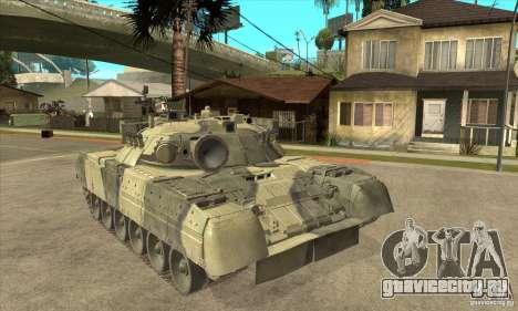 T-80U MBT для GTA San Andreas вид сзади