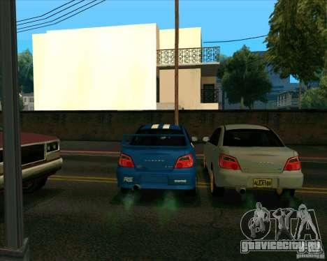 Subaru Impreza WRX STi Tunable для GTA San Andreas вид сзади