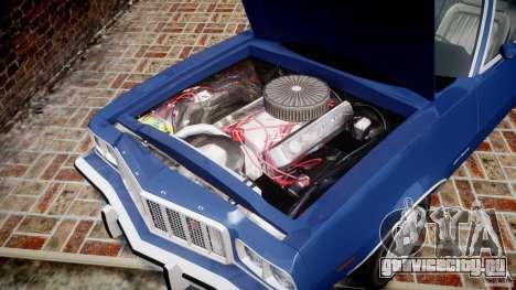 Ford Gran Torino 1975 для GTA 4 вид изнутри