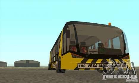 Автобус В Аэропорт для GTA San Andreas вид сзади