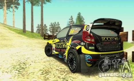 Ford Fiesta Rockstar Energy для GTA San Andreas вид слева
