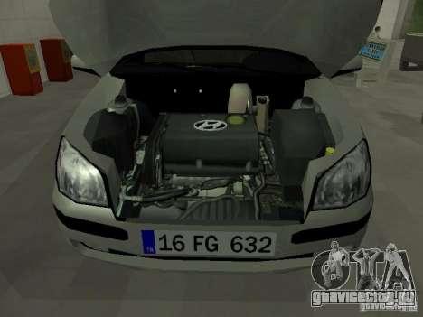 Hyundai Getz для GTA San Andreas вид изнутри