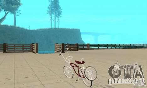 Low Rider Bike для GTA San Andreas вид сзади слева