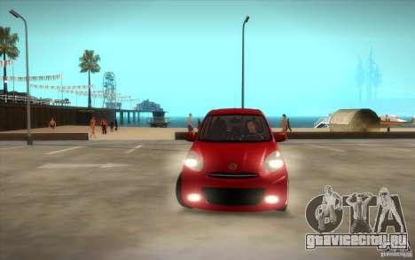 Nissan Micra 2011 для GTA San Andreas вид сбоку