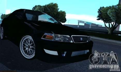 Toyota Mark II Tuning для GTA San Andreas вид сзади