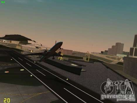 Boeing 777-200 KLM Royal Dutch Airlines для GTA San Andreas вид сзади