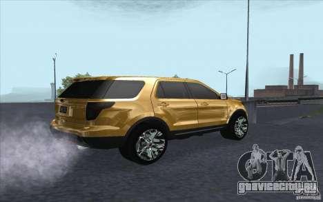 Ford Explorer Limited 2013 для GTA San Andreas вид справа