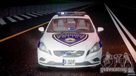 Volvo S60 Macedonian Police [ELS] для GTA 4 вид снизу
