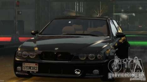 BMW M5 E39 BBC v1.0 для GTA 4 вид сверху