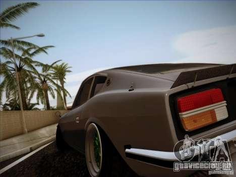 Nissan 280 Fairladyz 4.32 для GTA San Andreas вид изнутри