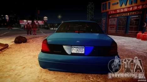 Ford Crown Victoria Detective v4.7 [ELS] для GTA 4 вид снизу