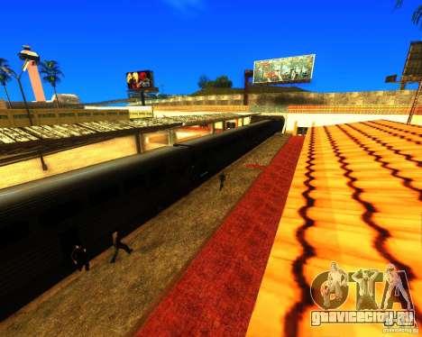 Оживлённый железнодорожный вокзал в Лос Сантосе для GTA San Andreas второй скриншот