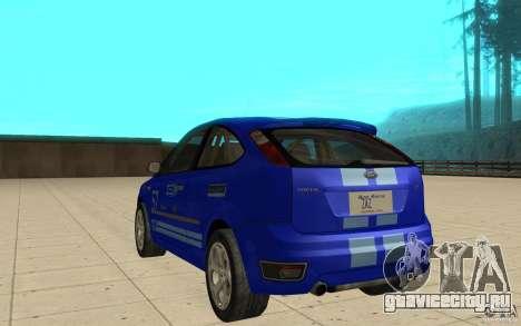 Ford Focus-Grip для GTA San Andreas вид сзади слева