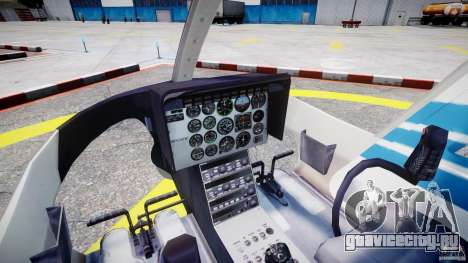 Bell 206 B - Chicago Police Helicopter для GTA 4 вид справа