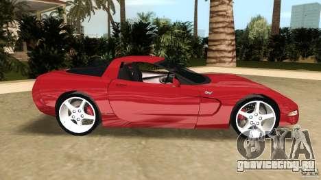 Chevrolet Corvette Z05 для GTA Vice City вид слева