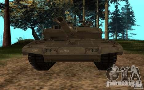 Leopard 2a7 для GTA San Andreas вид сзади