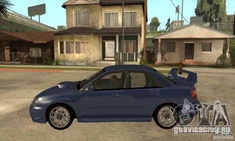 Subaru Impreza WRX STi - Stock для GTA San Andreas вид слева