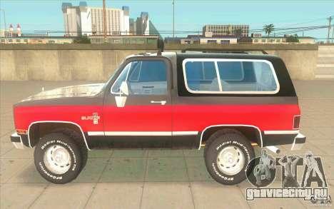 Chevrolet Blazer K5 Stock 1986 для GTA San Andreas вид слева