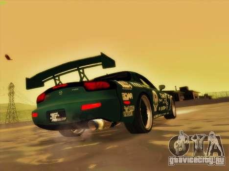 Mazda RX7 rEACT для GTA San Andreas вид снизу