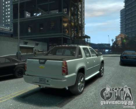 Chevrolet Avalanche Version Pack 1.0 для GTA 4 вид сзади слева