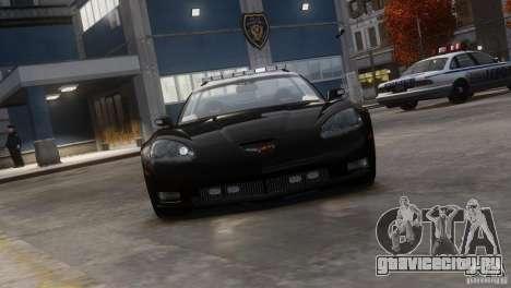 Chevrolet Corvette LCPD Pursuit Unit для GTA 4 вид сзади слева