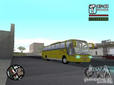 Busscar Vissta Bus для GTA San Andreas вид сзади