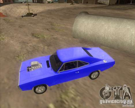 Dodge Charger RT 1970 The Fast and The Furious для GTA San Andreas вид сзади