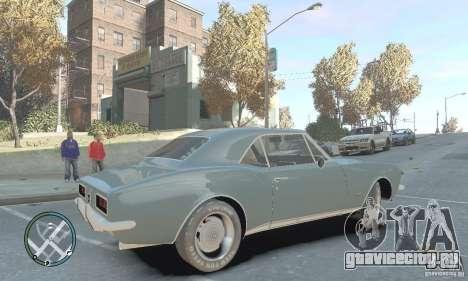 Chevrolet Camaro SS 1969 для GTA 4 вид слева