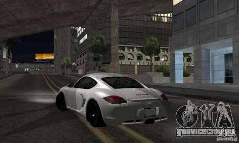 Porsche Cayman R для GTA San Andreas вид слева