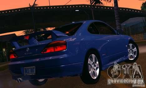 Nissan Silvia s15 tunable для GTA San Andreas вид изнутри