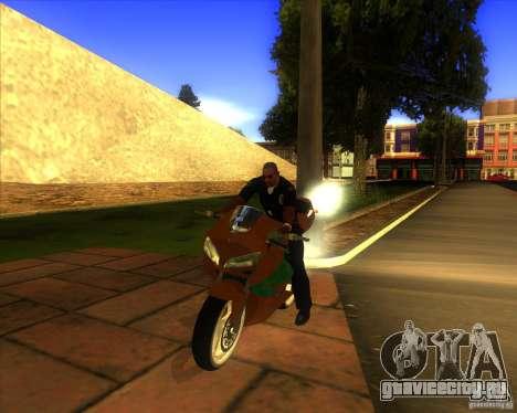 Honda CBR 600RR evo 2005 для GTA San Andreas вид сзади