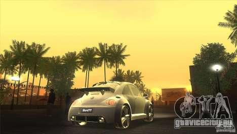 Volkswagen Beetle Tuning для GTA San Andreas вид изнутри