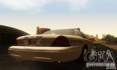 Ford Crown Victoria Rhode Island Police для GTA San Andreas вид слева