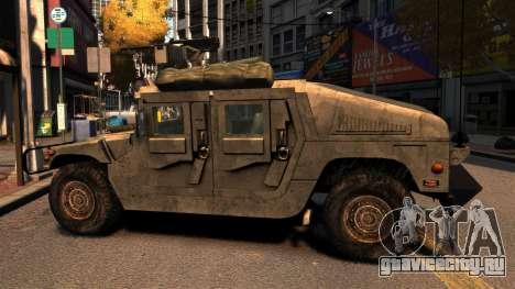 HMMWV M1114 для GTA 4 вид слева