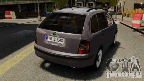 Skoda Fabia Combi для GTA 4 вид сзади