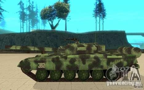 Танк T-72 для GTA San Andreas вид слева