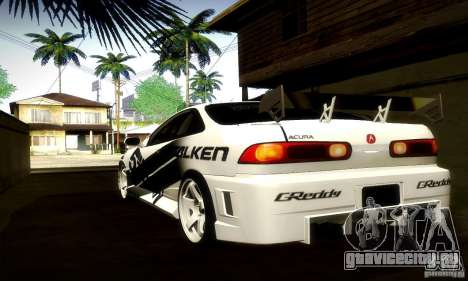 Acura Integra Type R для GTA San Andreas вид сзади