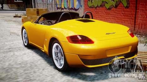 Ruf RK Spyder v0.8Beta для GTA 4 вид сзади слева