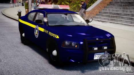 Dodge Charger NY State Trooper CHGR-V2.1M [ELS] для GTA 4 вид изнутри