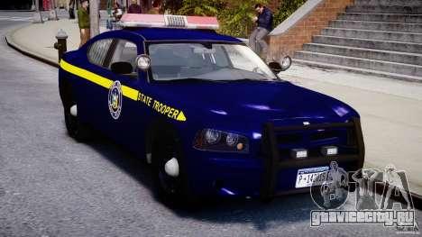Dodge Charger NY State Trooper CHGR-V2.1M [ELS] для GTA 4 вид изнутри